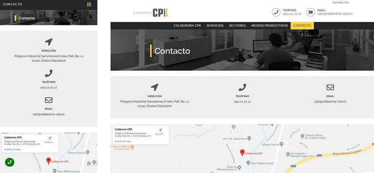 Renovación de página web y marca de Calderería Pako a CPK
