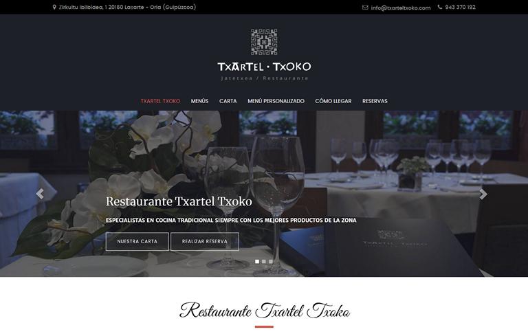 Lasarte-Oriako Txartel Txoko Jatetxeko web-orria berritzea